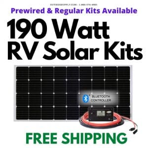 Buy 190 watt Rv solar kits with free shipping.