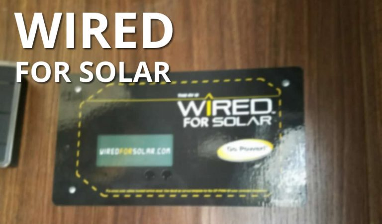 Wired For Solar program for RV Pre wire for solar kits.