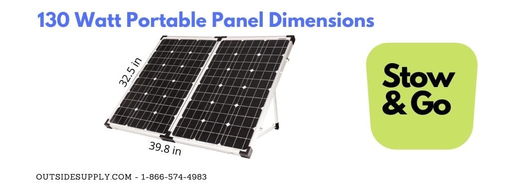 130 watt portable solar kit dimensions
