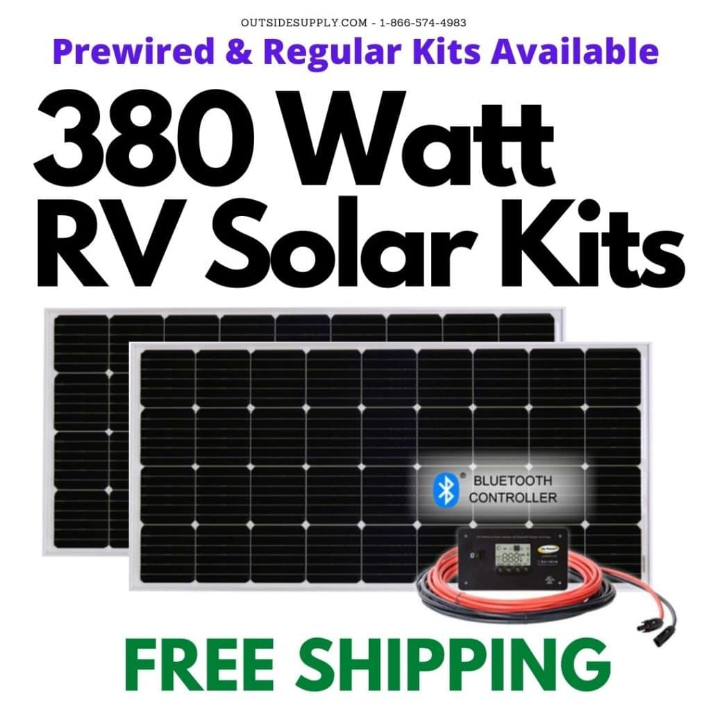 Buy 380 watt RV Solar Kits with Free Shipping