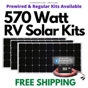 Buy 570 watt RV solar kits with Free Shipping