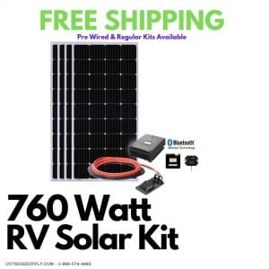 760 watt RV solar kit with free shipping