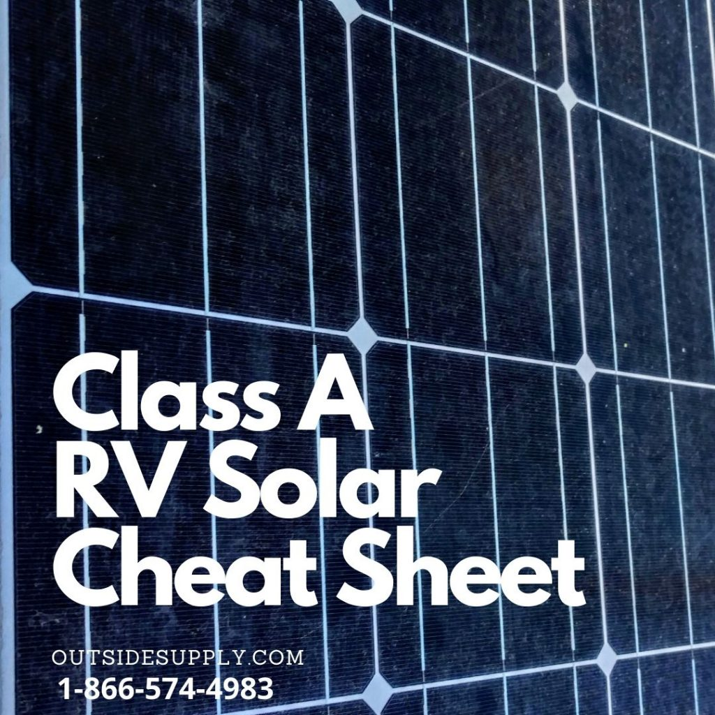 Class A solar cheat sheet for choosing the right solar system for your class A RV