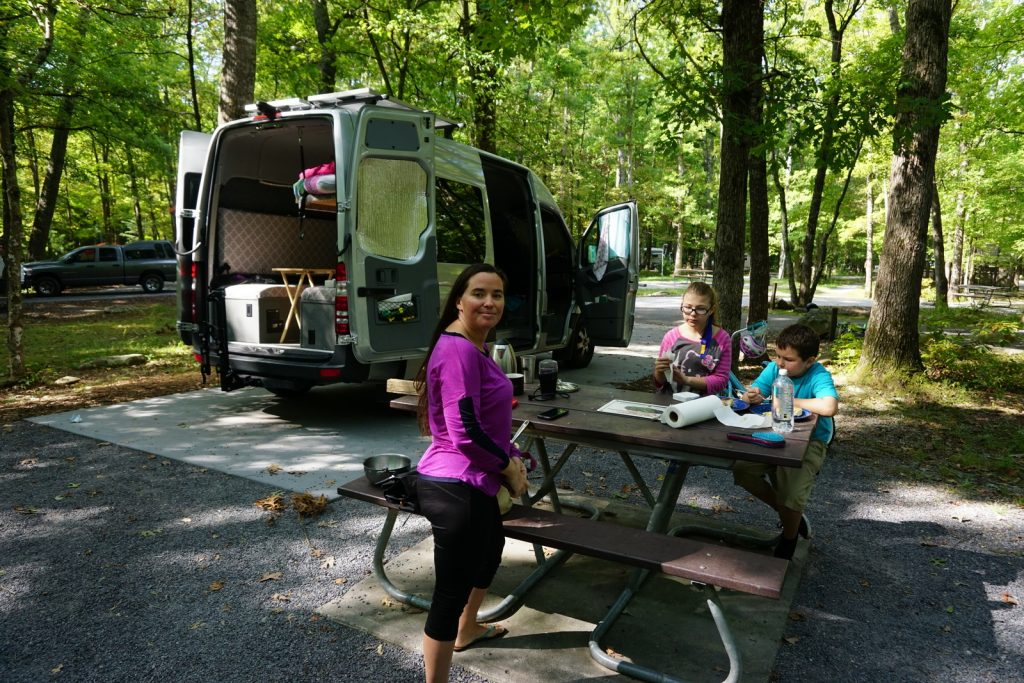 Camping off-grid in Cade's Cove in Smokey Mountain National Park