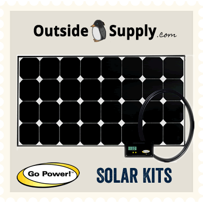 Great RV solar kits are available for purchase from Outside Supply.