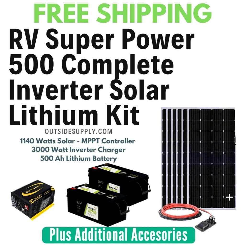 Complete Rv Solar Power Kits With Lithium Batteries