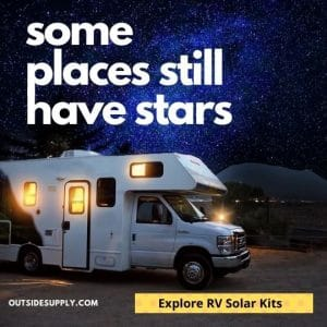 Some places still have stars, go see them, have power with RV solar.