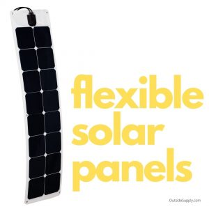 Flexible solar panels for RVs allow for low profile installations.