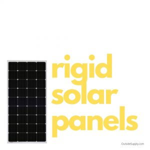Rigid solar panels often have aluminum frames and polycarbonate glass.